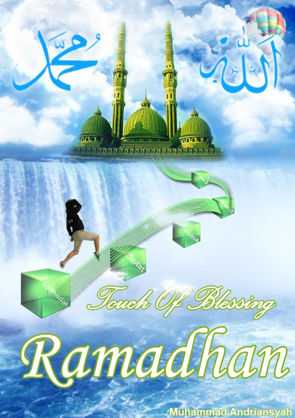 "Desain Poster ""Touch of Blessing Ramadhan"""