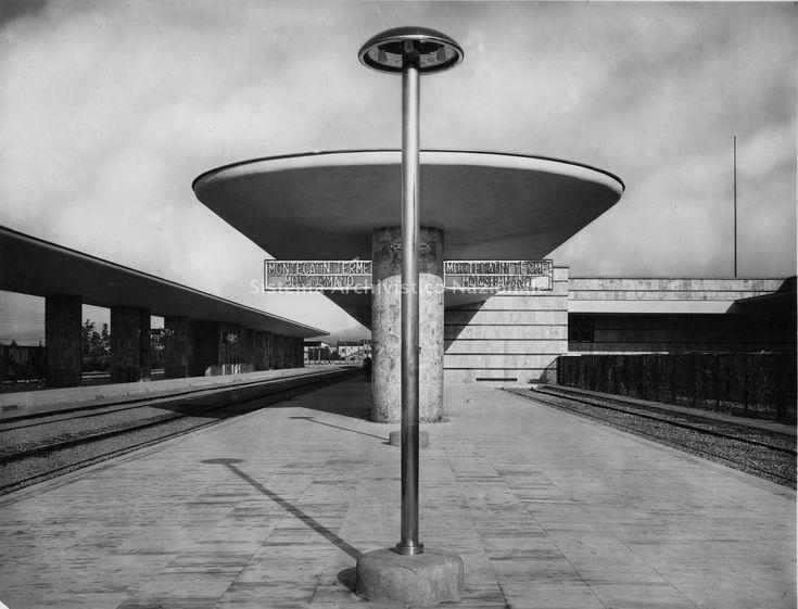 Montecatini Terme-Monsummano (PT), Stazione ferroviaria, Angiolo Mazzoni, 1933-1936