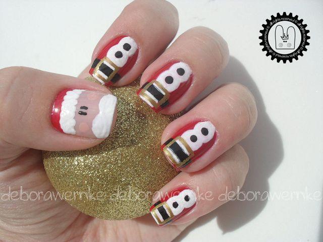 Nail Art – Santa Claus + TUTORIAL