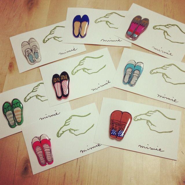 お靴ブローチ by mimie アクセサリー コサージュ・ブローチ | ハンドメイド、手作り作品の通販・販売 minne(ミンネ)