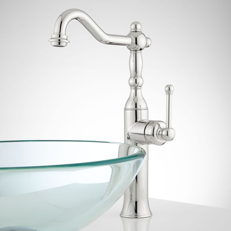sidonie singlehole vessel faucet with popup drain