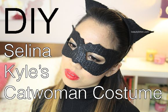 beautybitten | a personal style & beauty blog : Halloween DIY: Selina Kyle/Catwoman Costume (The Dark Knight Rises) - Mask, Makeup, and Hair...