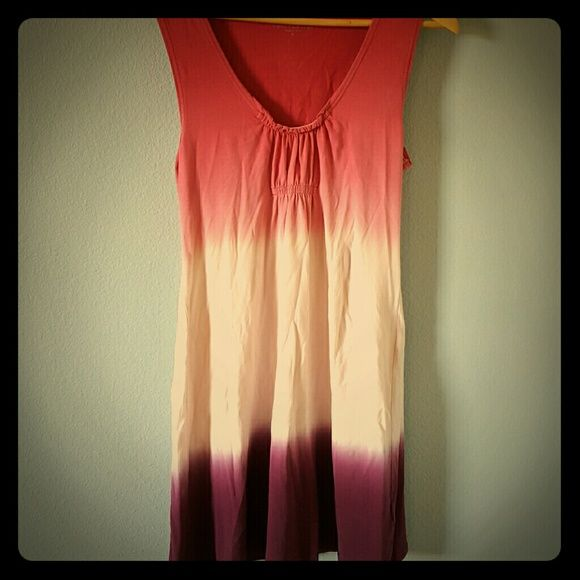 Calvin Klein summer dress Pink, white and purple dress. Material is soft and stretchy. Calvin Klein Dresses