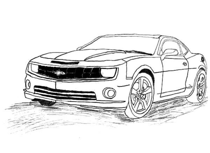 Free Chevrolet Camaro coloring pages to print online