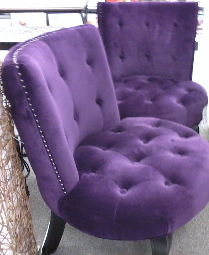 i saw these purple velvet chairs at ross dress for less in the cordova mall pensacola fl