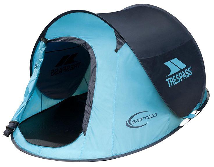 Trespass - Tenda da campeggio istantanea, Swift 200, turchese (blu), 245 x 145 x 100 cm: Amazon.it: Sport e tempo libero