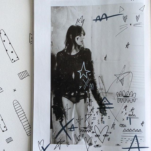 Finally finished reading the beautiful April issue of @russhmagazine Now to scribble all over the pages, the Nadia Flower way Nx #nadiaflowerdesign #nadiafloweroriginals #neverstopcreating #russhmagazine #editorialfashion #editorial #fashion #fashionblogger #womensfashion #jamiebochert #design #art #calvinklein