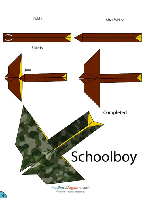 Paper Airplane Instructions – Schoolboy  #summer #activities #build #brain #power #folding #airplanes