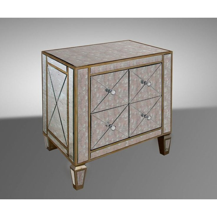 Modrest Harmon - Transitional Mirror Nightstand