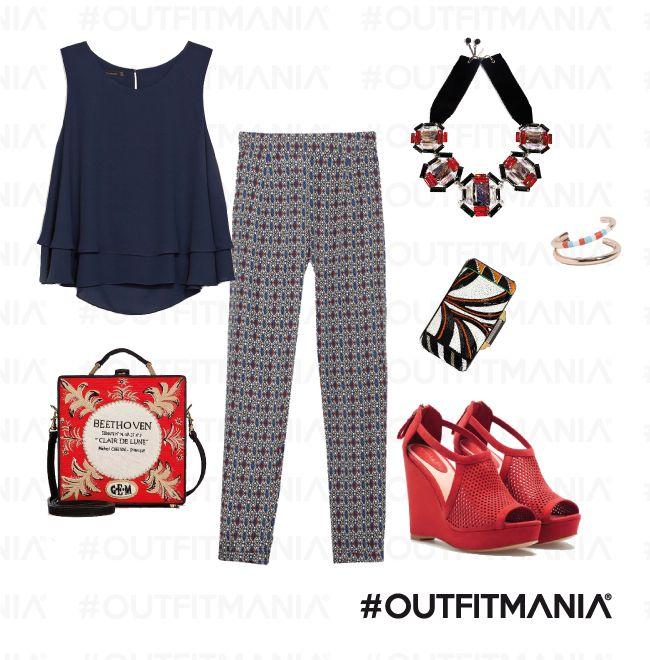 Aperidì |  Pantaloni sarouel, scarpe intrecciate e di un rosso corallo... |  #outfitmania #outfit #style #fashion #dresscode #amazing  #top #zara #Stradivarious #clutch #emiliopucci | CLICCA SULLA FOTO PER SCOPRIRE L'OUTFIT E COME ACQUISTARLO