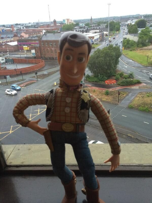 Found this Woody doll lying on the road in Preston, UK. Did anybody lose him? via Mitch Benn @MitchBenn on twitter