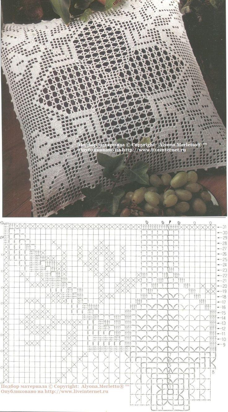Ажурный чехол для подушки крючком ... от 1000 Mailles (Франция)