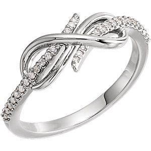 White Gold Diamond Infinity-Style Ring Item #123329