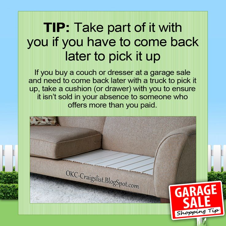 59 best craigslist garage sale blog images on pinterest yard sales garage sale shopping tip how to ensure that your garage sale buy it isn fandeluxe Image collections