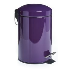 Our bold purple dome-lid bathroom pedal bin is the perfect accessory for modern, minimal bathrooms and downstairs toilets. It can also be used in home offices, kids' rooms or even smaller kitchens. The bin's flip-top lid keeps rubbish hidden from view and is easy to open by lightly stepping on the pedal. The surface of the bin is easily restored to a high shine by wiping with a soft damp cloth.