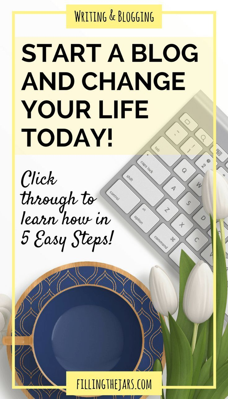 How to Start a Blog: The Super-Easy 5-Step Beginner Guide | Something magical happens when you become a blogger. Click through for the easy beginner guide on how to start a blog and change your life today! | http://www.fillingthejars.com