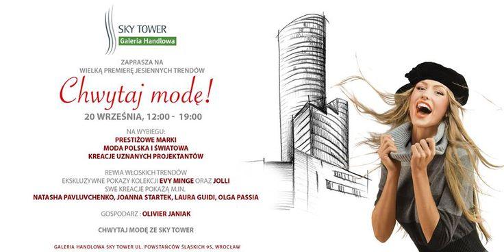 Pokaz mody w Sky Tower   20 września, 12:00 - 19:00  https://www.facebook.com/events/763305190382117/  #moda #pokazmoday #fashion #modamęska #modadamska #jesień2014