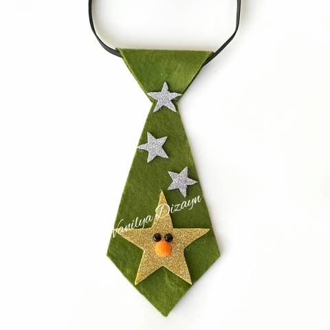 Yıldızlı yeni yıl kravat