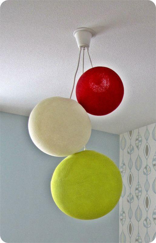 Les 41 meilleures images propos de chambre parents sur for Suspension 3 boules
