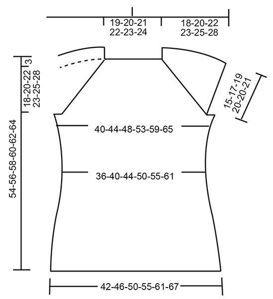 Petronella Top / DROPS 175-32 - Top ai ferri con raglan e motivo traforato, lavorato dall'alto verso il basso (top down), in DROPS Muskat. Taglie: Dalla S alla XXXL. - Free pattern by DROPS Design