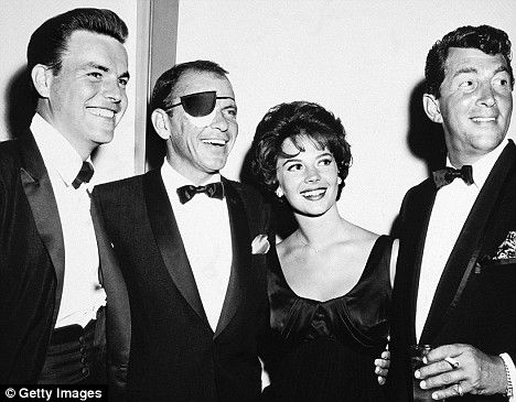 Robert Wagner, Frank Sinatra(never saw Frank with a patch over his eye) and Dean Martin with Natalie Wood on her 21st birthday