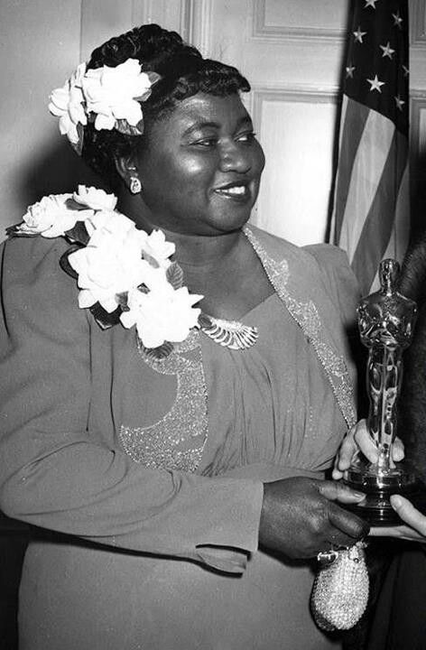 """Hattie McDaniel - Best Supporting Actress Oscar for """"Gone With The Wind"""" 1939"""