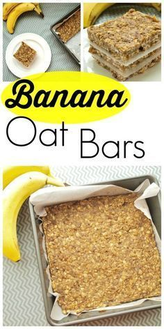 These Banana Oat Bars are gluten-free, dairy-free, and nut ...