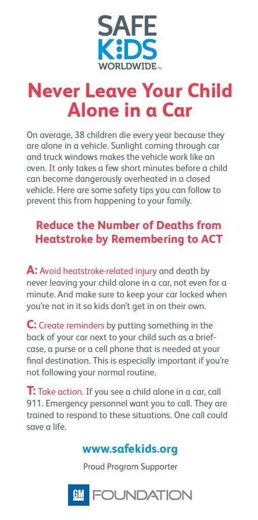 7 best Heatstroke Awareness (NHTSA) images on Pinterest - valet parking resume