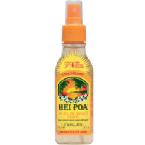 Hei Poa Monoi Oil SPF6 Vanilla 100ml (Αντηλιακό Λάδι με Άρωμα Βανίλιας)