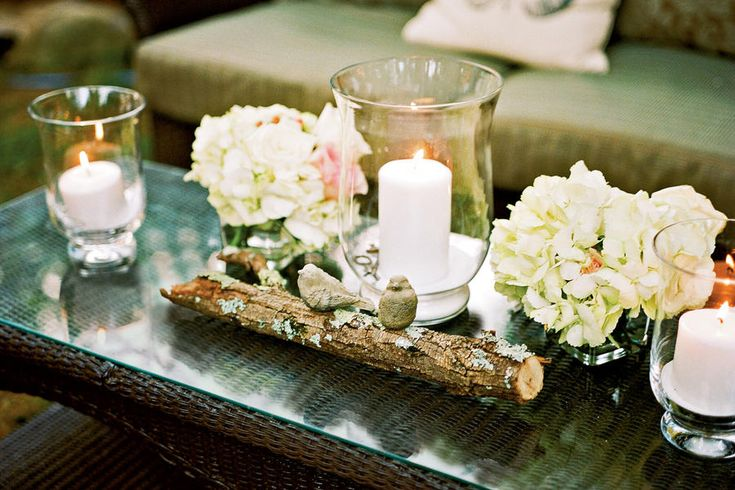 The Reception - Garden-Inspired Wedding - Southernliving. The patio offered a casual space for guests to relax.    Love It? Get It! Flowers:Julie Brown Interiors; 615/300-5795, and Garden Delights; 615/599-9950