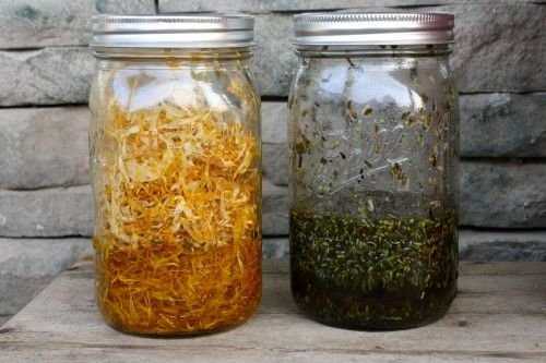 How to make herbal infused oils - lists herbs and their uses