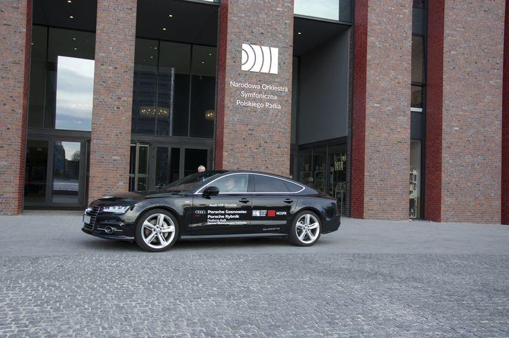 Jedno z pięciu Audi A7, które woziły gości Festiwalu Katowice Kultura Natura.