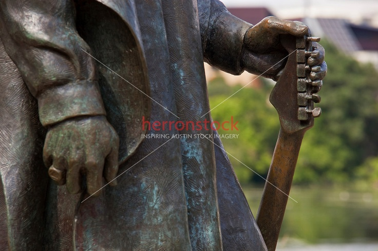 Stevie Ray Vaughan Statue magical hands and guitar photo