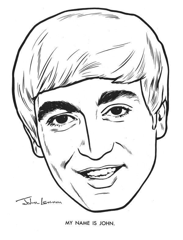john the beatlescoloring books - Beatles Coloring Book
