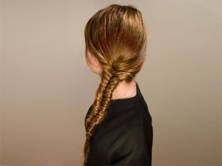 Learn how to make a fishtail plait hairstyle