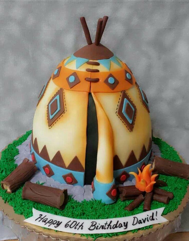 Pocahontas Party ⚜ teepee cake