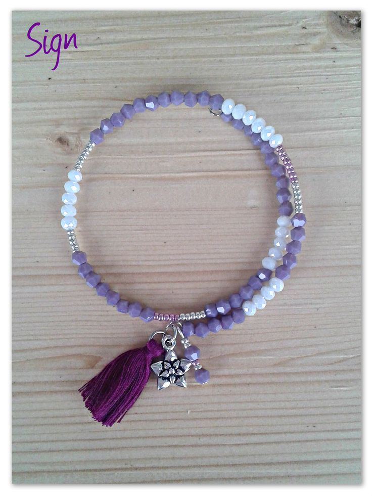 Memory wire bracelet - Bracciale Memory con cristalli e perline