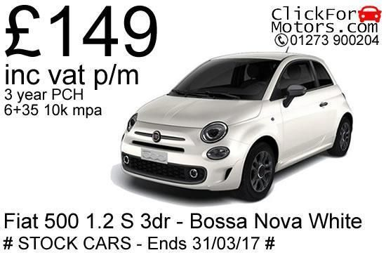 Fiat 500 1.2 S 3dr - £149 inc vat p/m! Stock cars available, offer ends 31/3/17 in Cars, Motorcycles & Vehicles, Cars, Fiat | eBay!