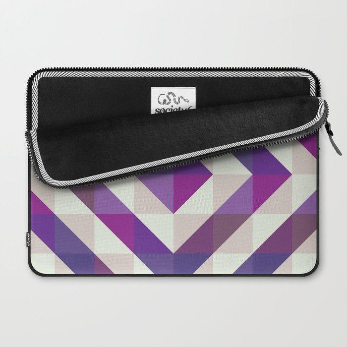 Patchwork Purples Laptop Sleeve by Fimbis    Ultra violet, purple, Macbook Pro, design, Lenovo, fashionista, symmetry, fashion,