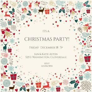 The 25 best christmas invitation templates ideas on pinterest signs of the season printable invitation template customize add text and photos print stopboris Gallery