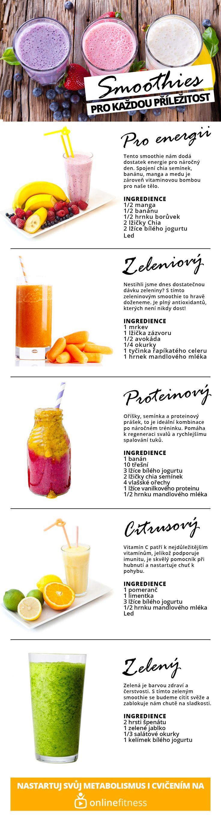 5 receptů na smoothie, které jsou vhodné pro každou příležitost | Blog | Online Fitness - živé fitness lekce, cvičení doma pod vedením trenérů