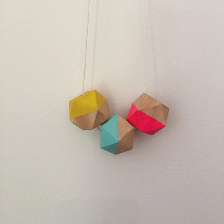 A personal favourite from my Etsy shop https://www.etsy.com/au/listing/253397387/geometric-colourful-chunky-necklace-hand