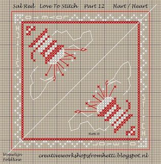 Part 12 SAL Red Love To Stitch Pincushion Heart