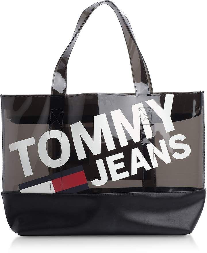 Tommy Hilfiger Tommy Transparent Tote Bag Tommy Hilfiger Tommy Bags