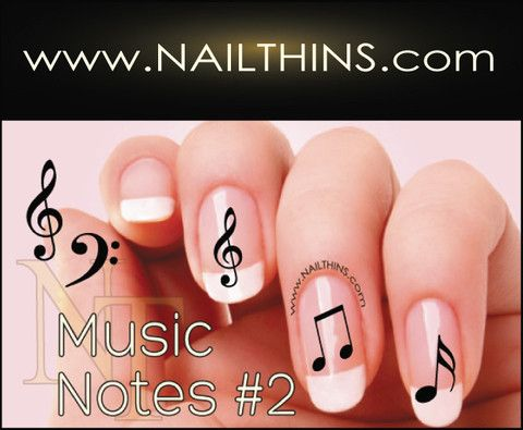 Musical Notes #2 Nail Decals Nail Art Designs NAILTHINS