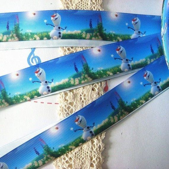 Frozen Olaf The Snowman  Printed Grosgrain by Universalideas, $2.00