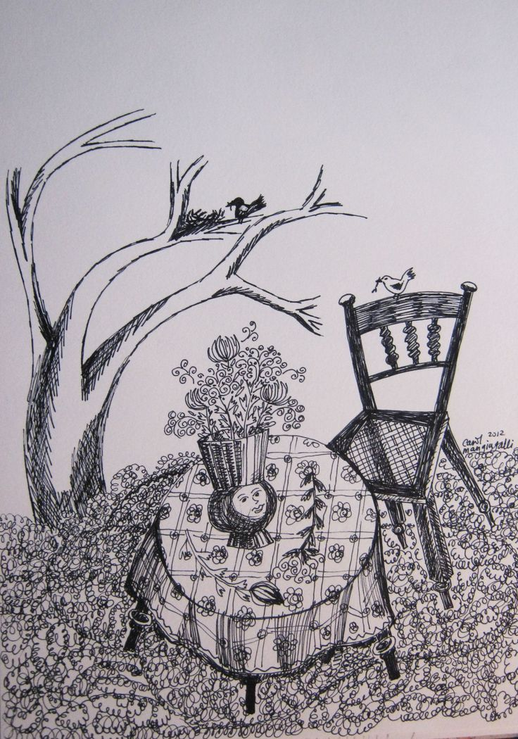The Garden  Pen and Ink