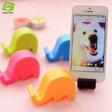 2 pçs/lote forma bonito do elefante telefone celular suporte Multi - função de telefone titular colorido Mini suporte do telefone(China (Mainland))