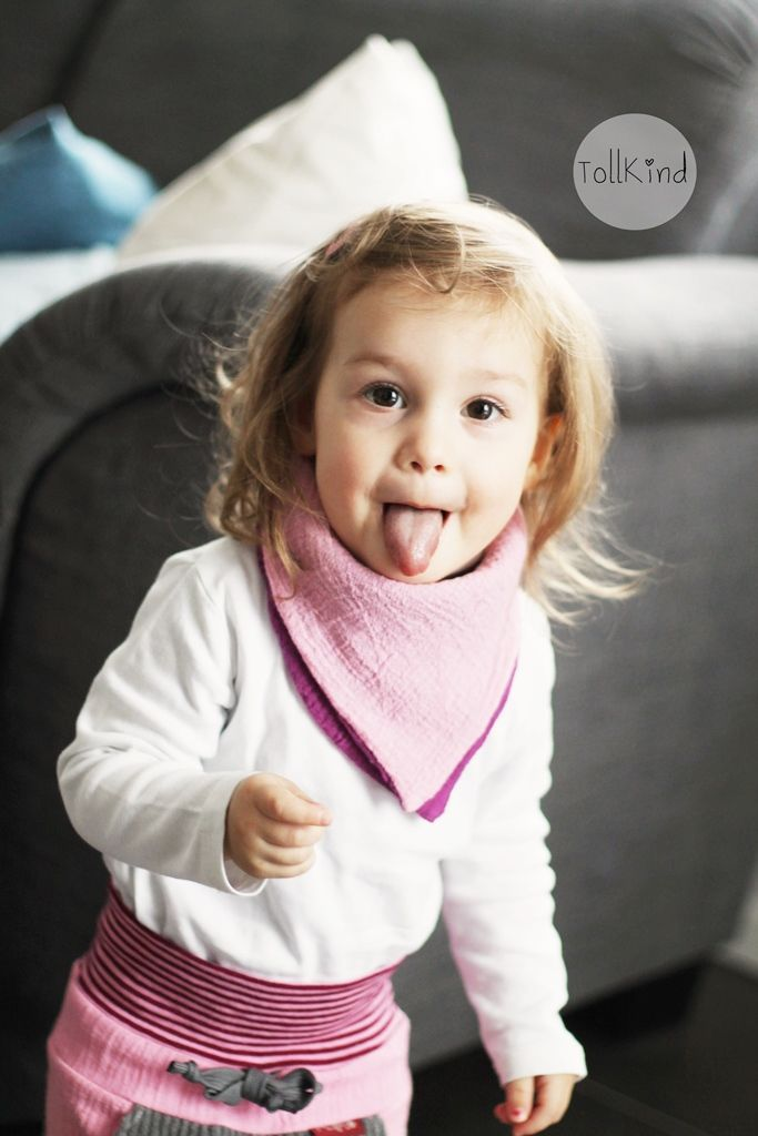 Freebook süßes Dreieckstuch für Kinder nähen (kostenloses Tutorial)