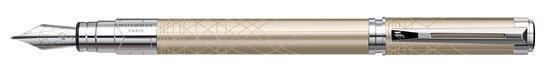 WATERMAN PERSPECTIVE FOUNTAIN PEN  CHAMPAGNE MEDIUM PT  NEW IN BOX 1750141 #Waterman